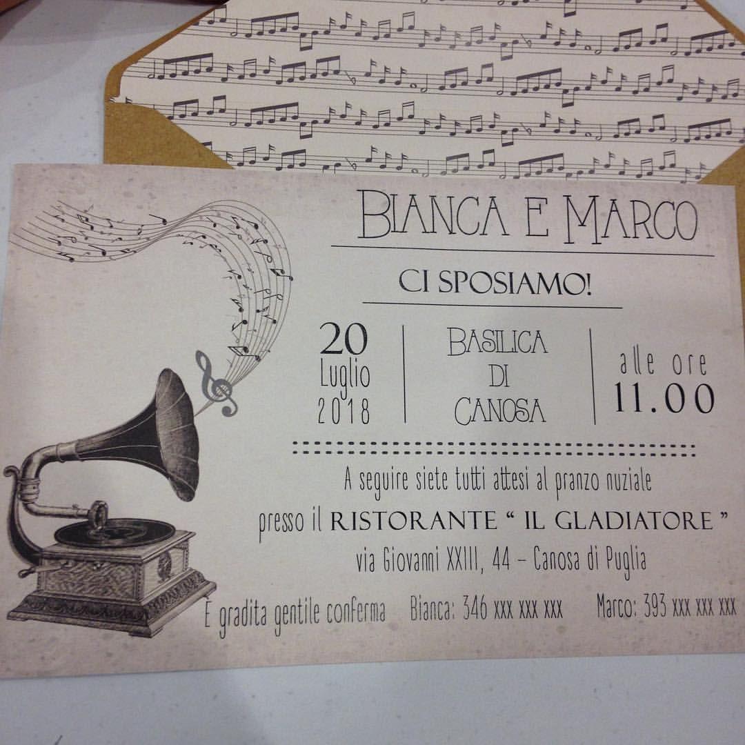 Cardnovel Partecipazione Musica Grammofono Matrimoni A Tema Musica Partecipazioni Matrimonio Fai Da Te Matrimoni A Tema