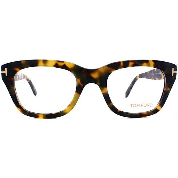 3c931bb046 Tom Ford Square Plastic Eyeglasses (389884402) (£175) ❤ liked on Polyvore