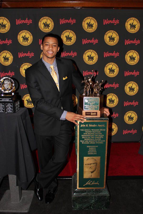 Trey Burke Receives The 2013 John R Wooden Award Sports Trey