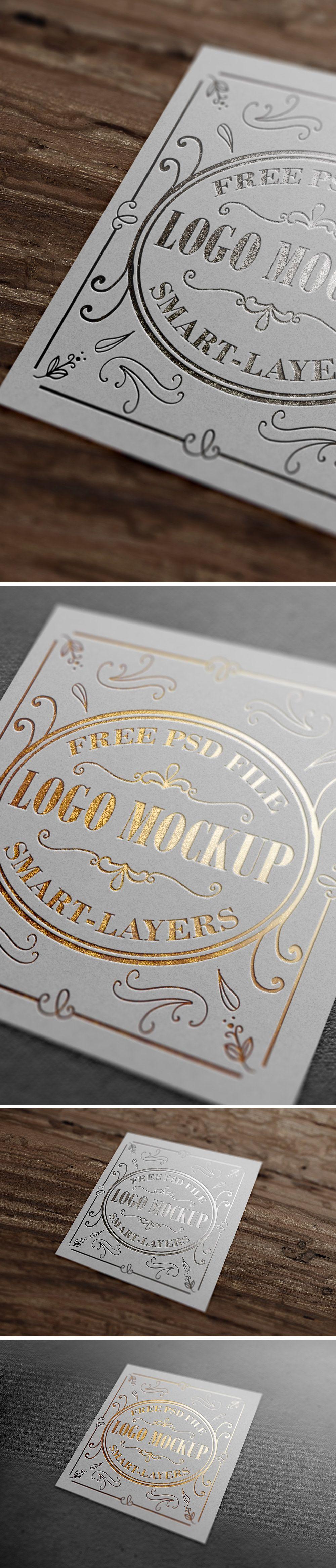 free gold silver foil logo mockup 202 mb