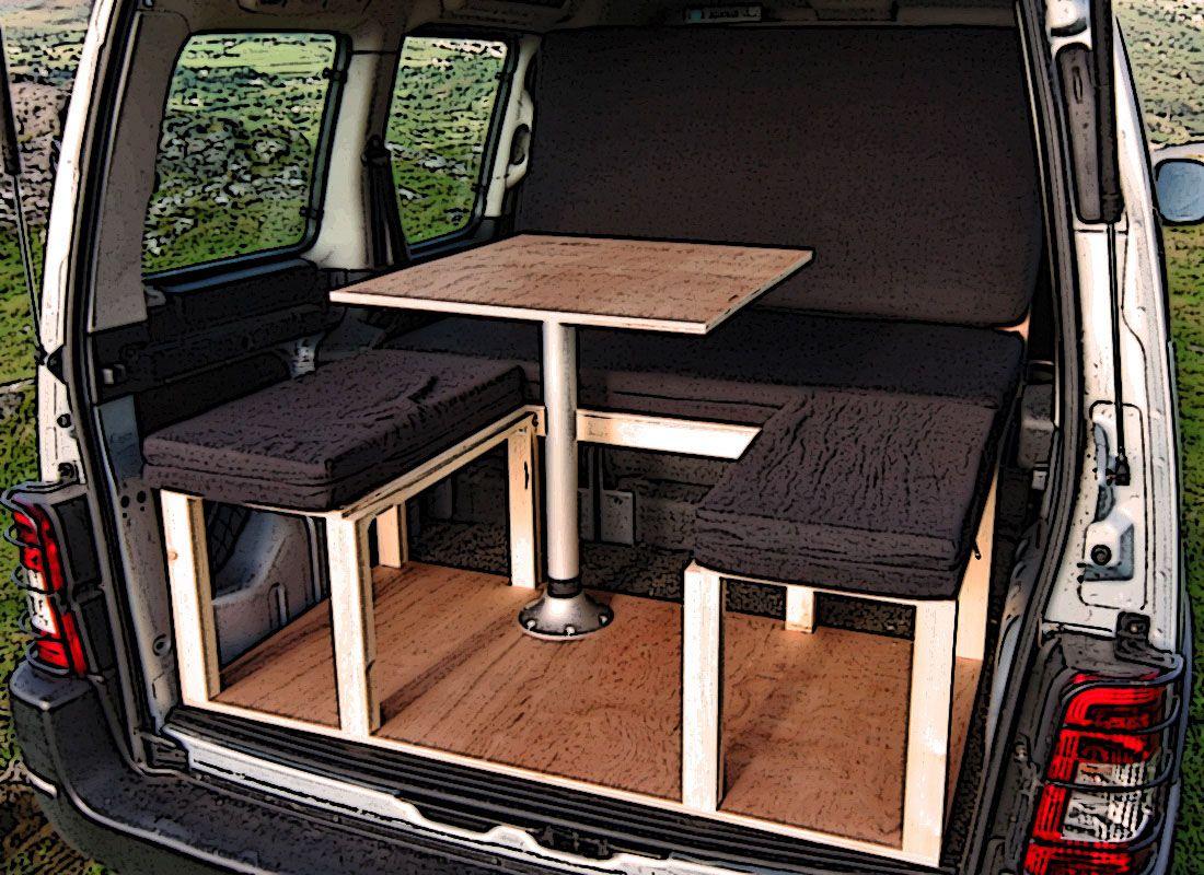 Citroen Berlingo Peugeot Partner Renault Kangoo Camper Van Conversion Module Camper Van Small Camper Vans Citroen Berlingo