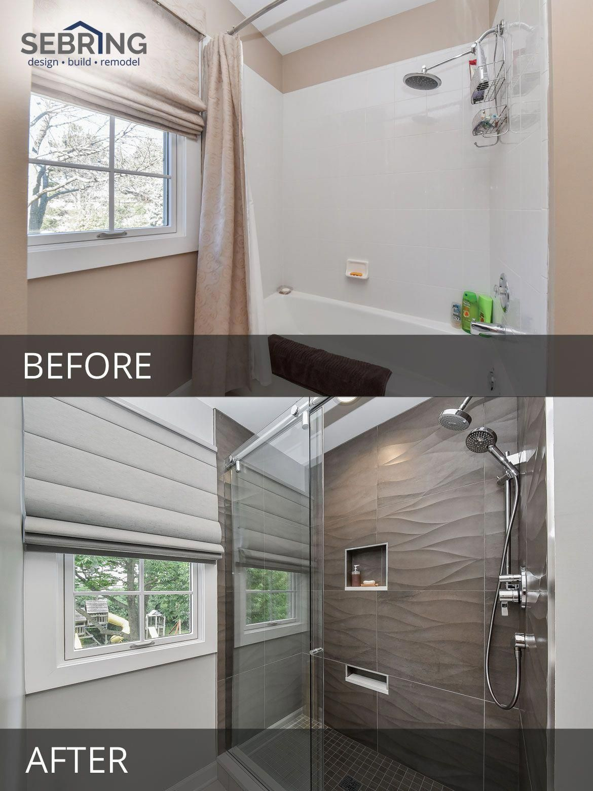 Modern Naperville Hall Bath Before And After Pictures Sebring Design Build Homeremodelingpicture Budget Bathroom Remodel Small Remodel Bathroom Before After