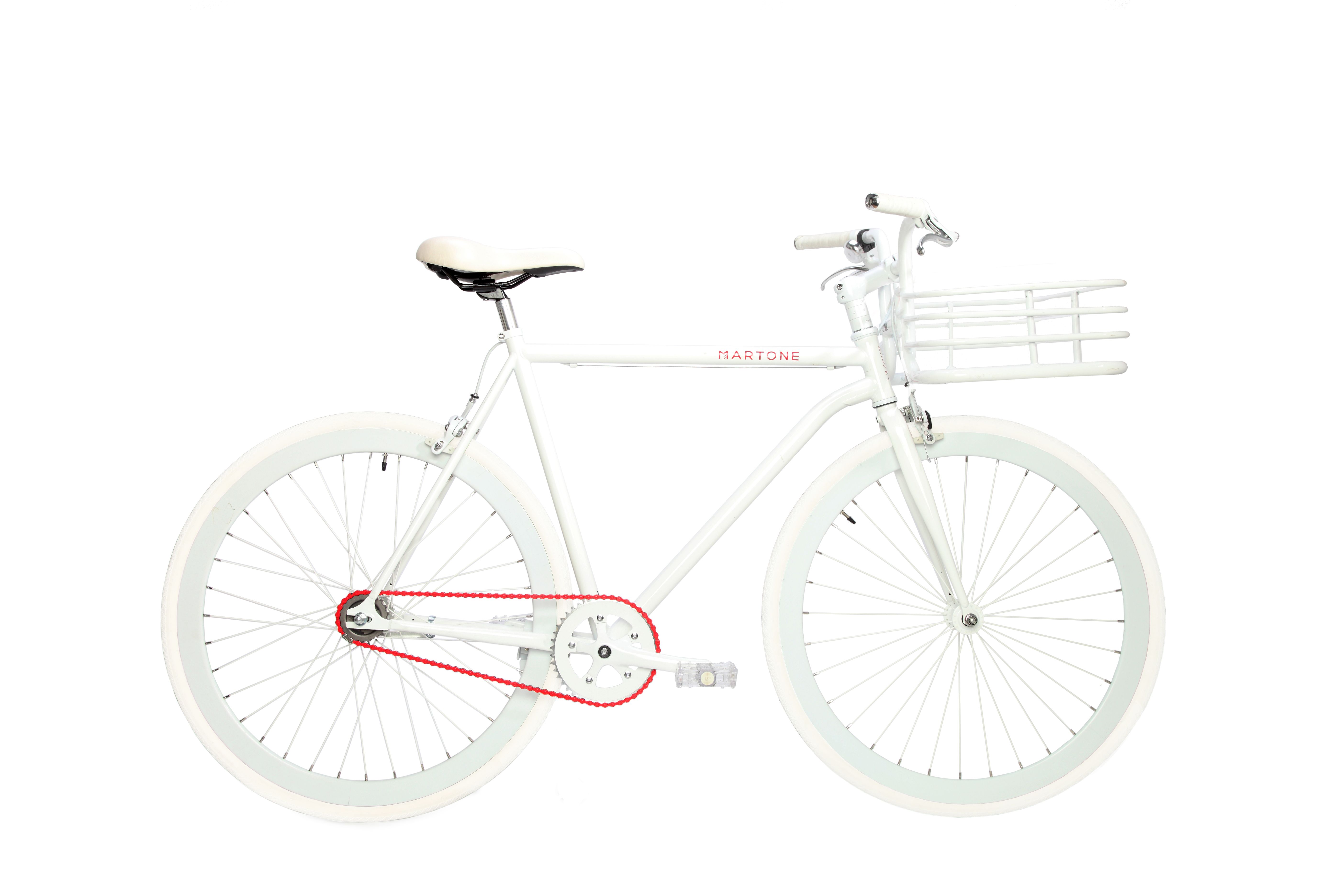 The Men S White Real Bike Is Composed Of Steel Alloy And Aluminum