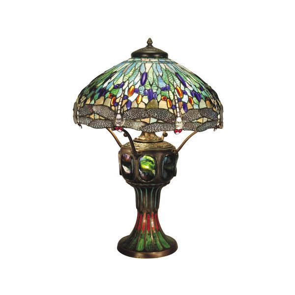 Dale Tiffany 0007/273E Victorian 3 Light Dragonfly Table