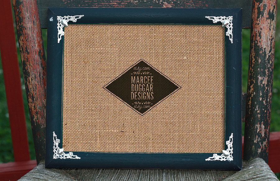 ADD A FRAME | 8x10 Black Painted | Re Purposed Wood frame ...