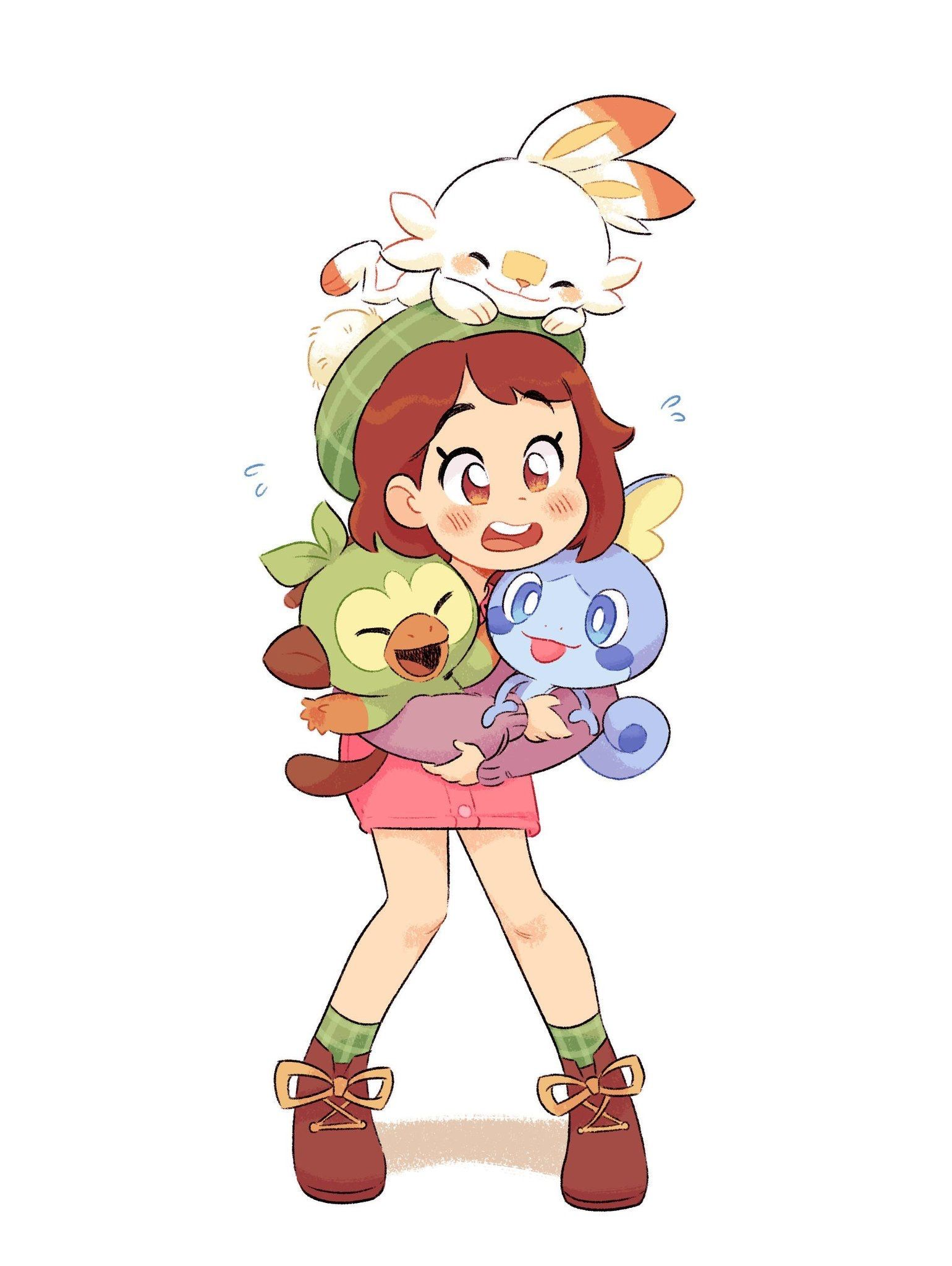 Shield With Her Starters Pokemon Sword And Shield Nintendo