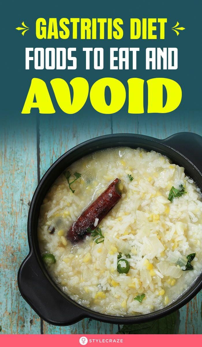 Best Gastritis Diet – Foods To Eat And Avoid: You can treat and even reverse gastritis by making cha...