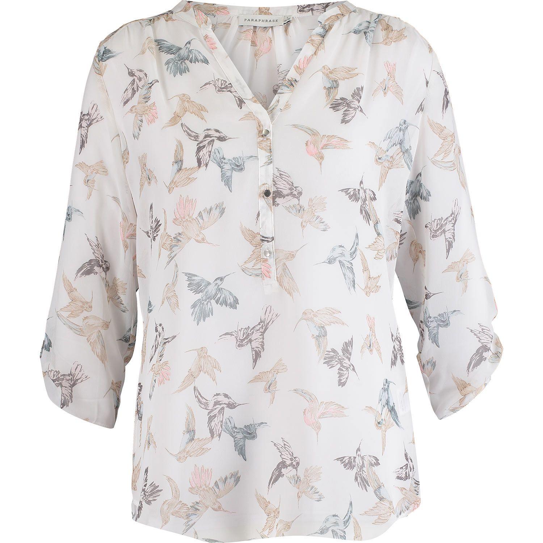 Paraphrase White Bird Print Blouse Printed Jacket Tk Maxx