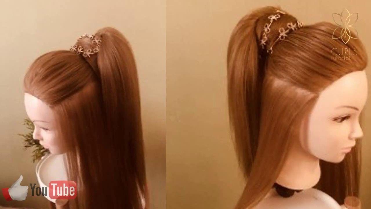 تتوريال تسريح الشعر الطويل Tutorial Long Hair Ear Cuff Fashion Ear