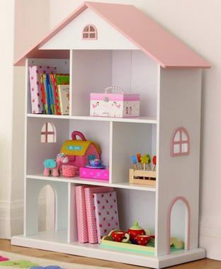 This bookshelf would look seriously cute in my baby girl 39 s nursery baby campbell ideas - Adorable dollhouse bookshelves kids to decorate the room ...