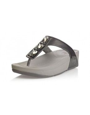 9826017ee 2014 Outlet Women Fitflop Pietra Toning Three Drill Sandals Pewter ...