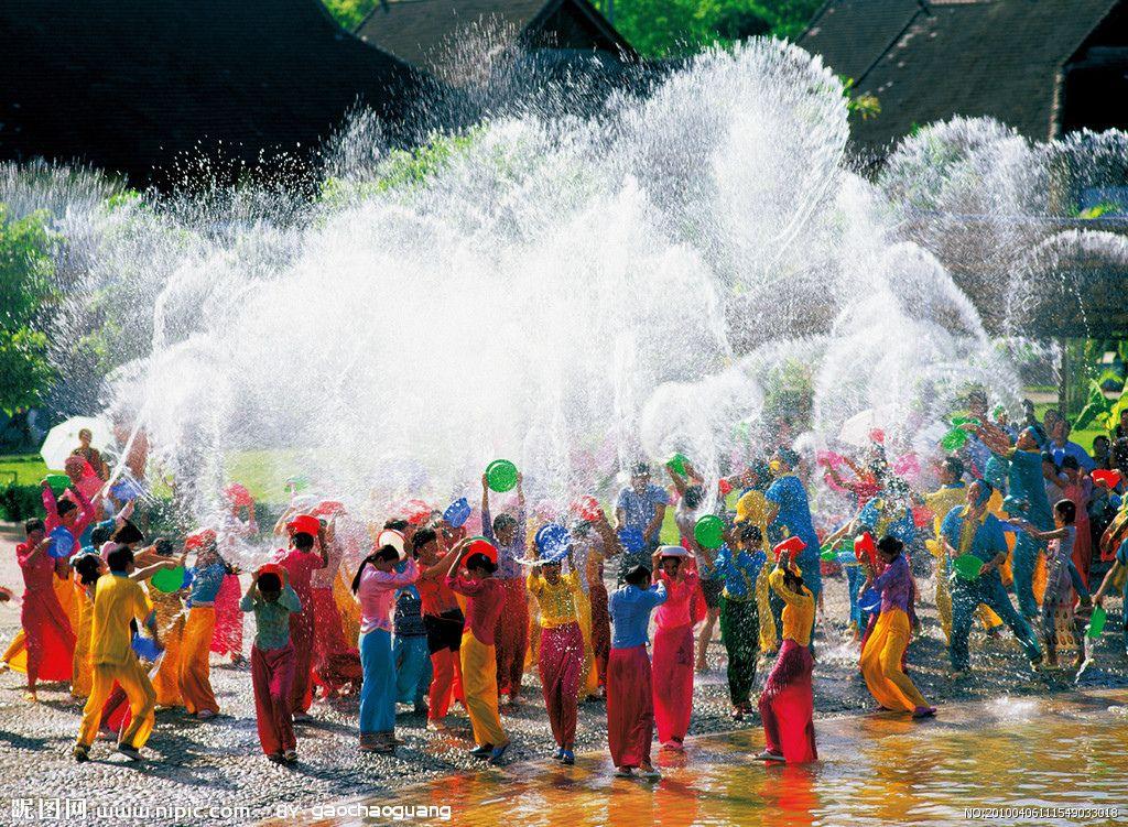 Water Splashing Festival in Xishuangbanna, China