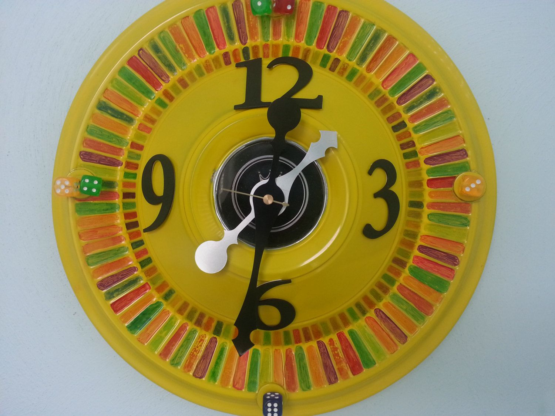 repurposed Vintage Buick hubcap art wall Clock by CLOSETGREEN ...