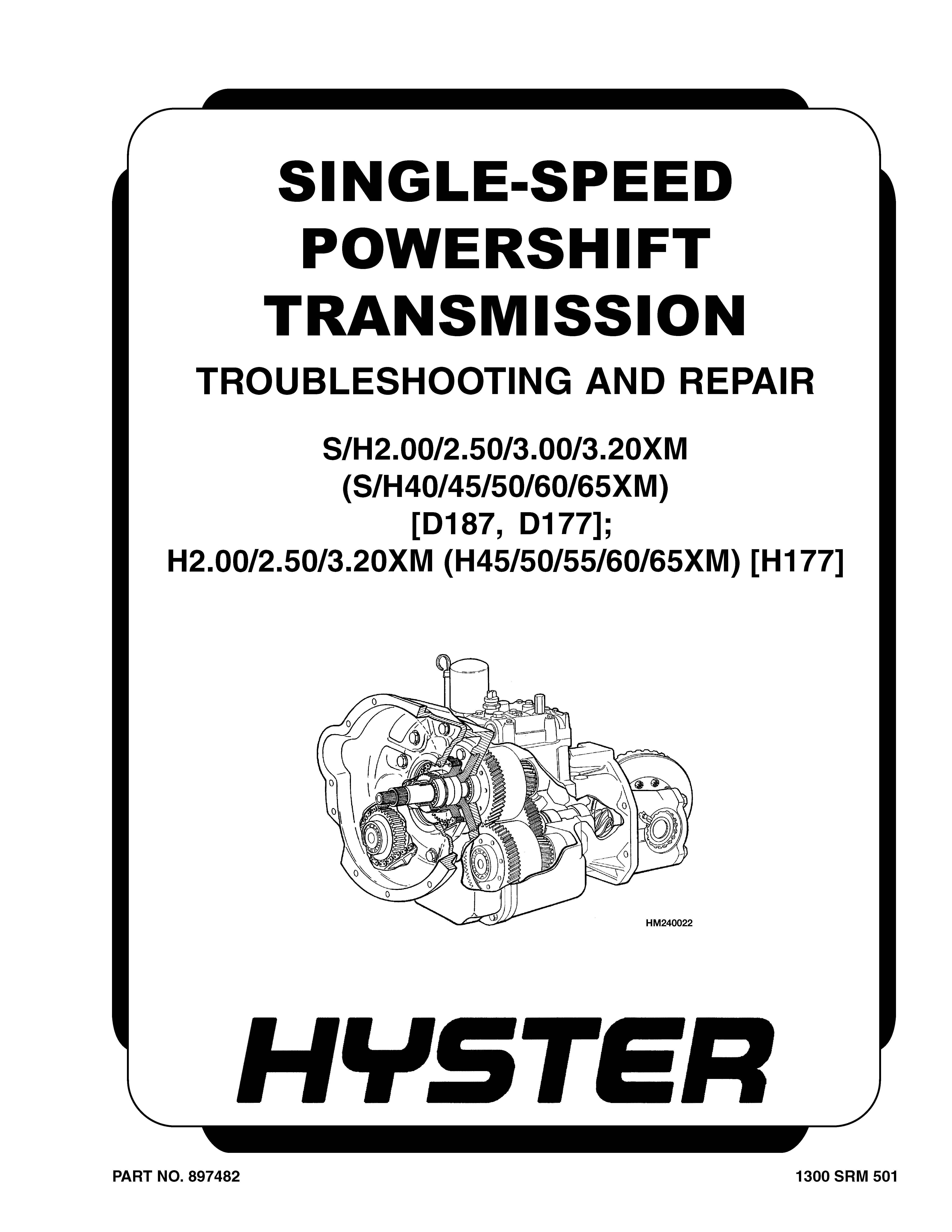 Hyster H2 00 3 20xm H177 Forklift Workshop Repair Service Manual Pdf Download Repair Manuals Repair Forklift