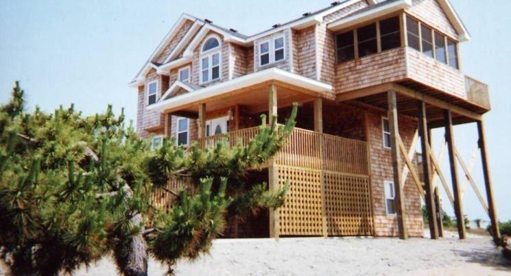 Nags head house rental side view of house3540 house