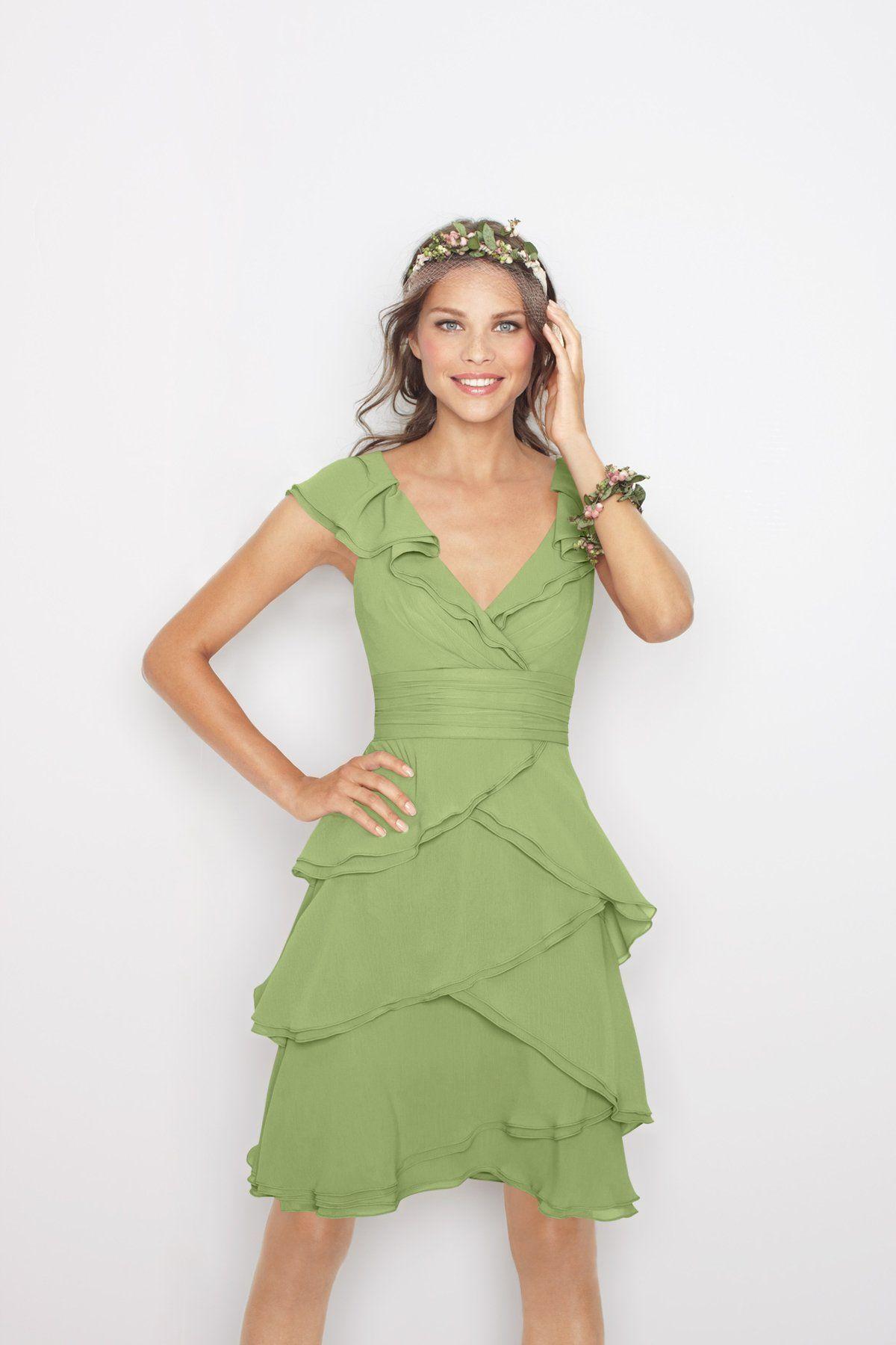 Watters Maids Dress 8514 Cap sleeve