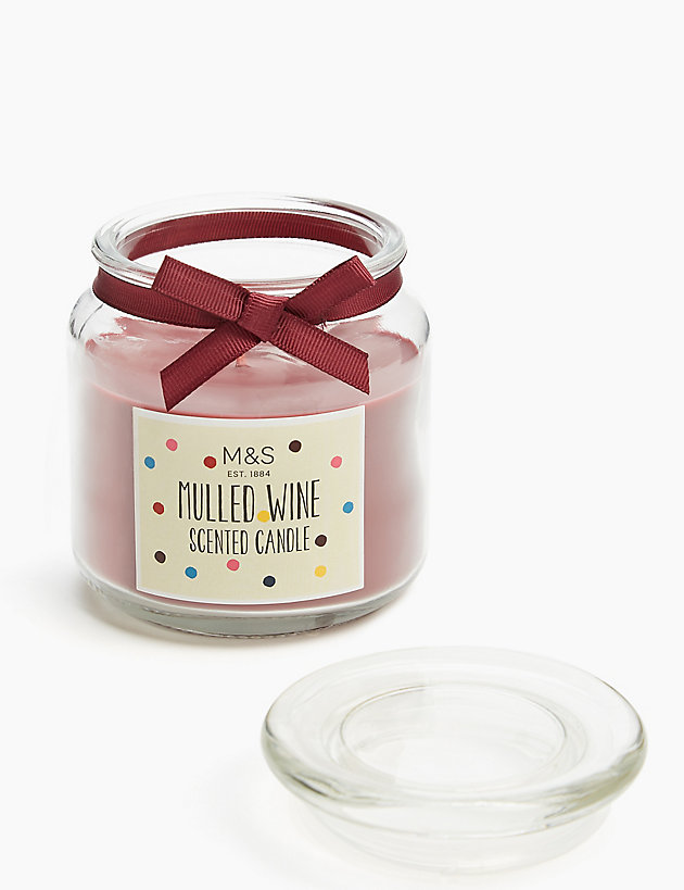 Mulled Wine Jar Candle M&S Candle jars, Wine scented
