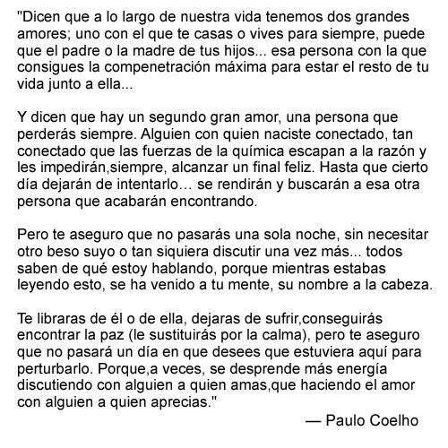 Paulo Coelho Dos Amores Frases Cortas De Amor Para Mi Novio