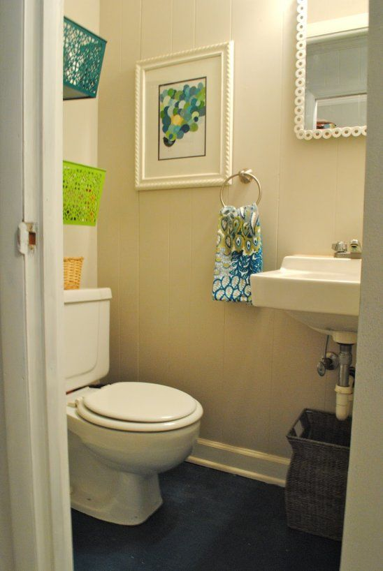 Pic On Small Bathroom Design Remodel Diy Easy love the dollar tree baskets on the wall