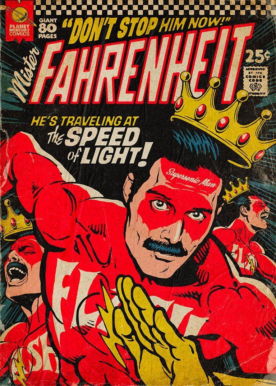 Planet Mercury Comics Illustration Series By Butcher Billy Inspiration Grid Vintage Comics Queen Poster Vintage Comic Books