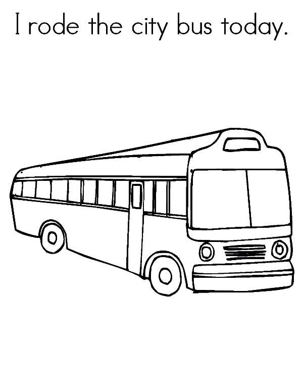 I Rode The City Bus Today Coloring Pages Netart In 2020 My Ride Coloring Pages Riding