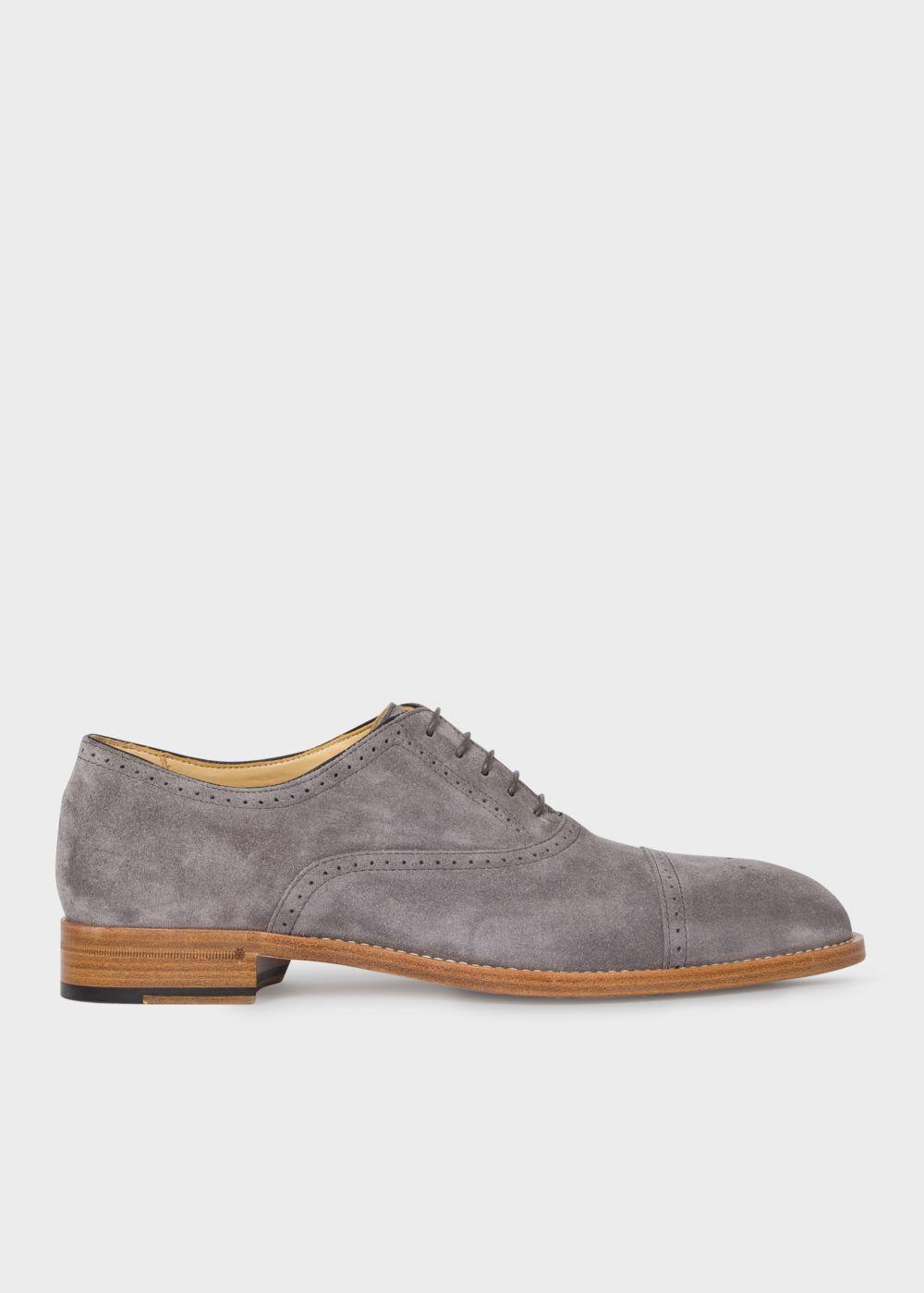 Men S Grey Suede Sonnet Oxford Shoes Paul Smith Us Suede Shoes Men Oxford Shoes Gray Suede