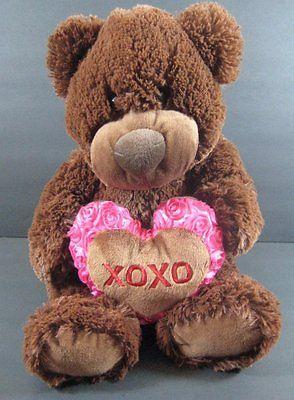 Baby Net For Stuffed Animals, 16 Valentine Brown Bear Big Heart Plush Walmart Stuffed Toy B256 Heart Plush Bear Valentines Toys