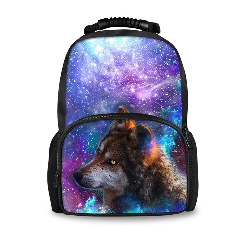Chaqlin Kids Large Galaxy Backpack For School Fun Animal