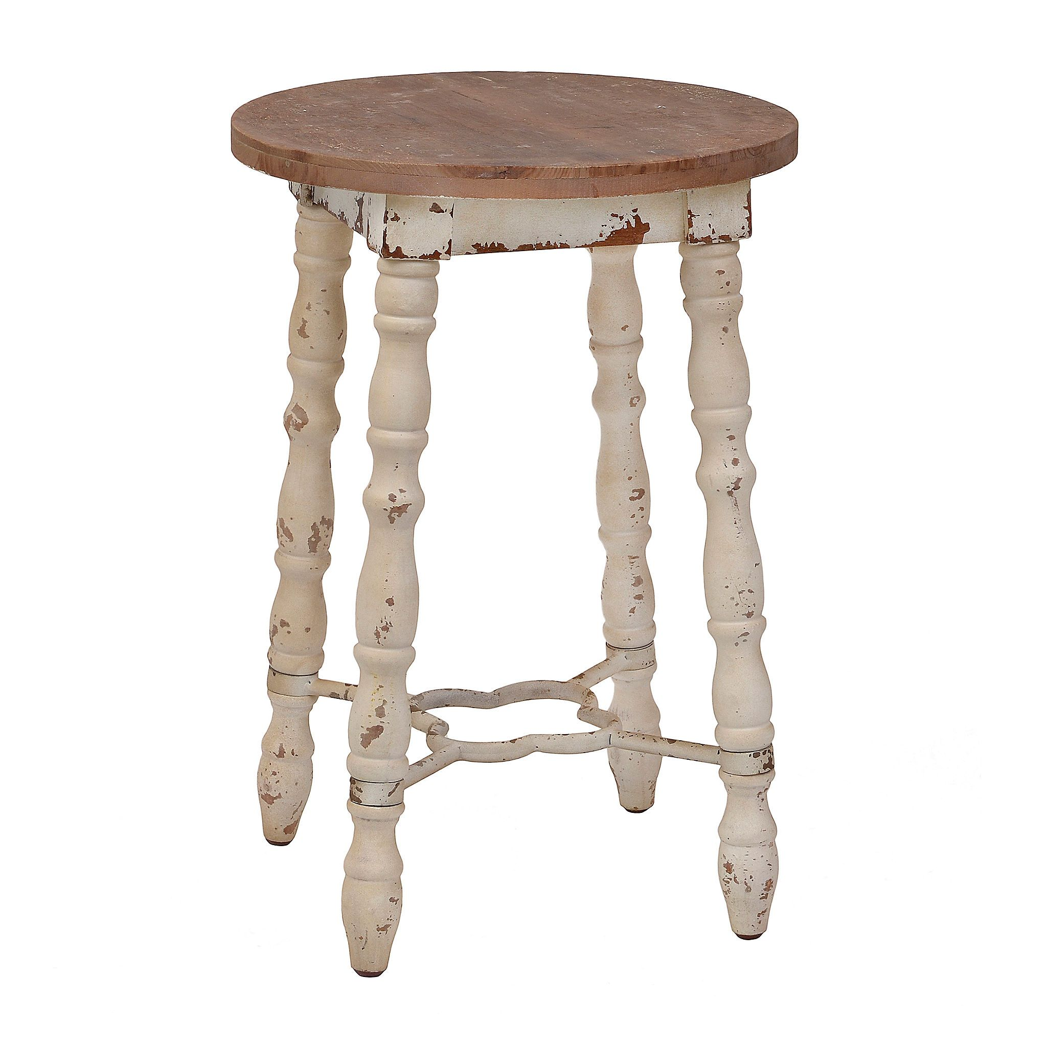 Product Details Distressed Cream Cottage Spindle Barstool