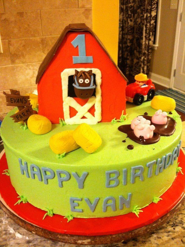 Barnyard 1st Birthday Cake Cakelins Cakes And Cookies Charlotte Nc