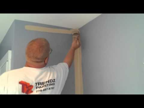 How I Cut In Paint On A Wall To Textured Ceiling You