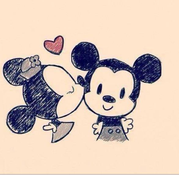 Disney : Mickey and Minnie : Disney love Disneyland