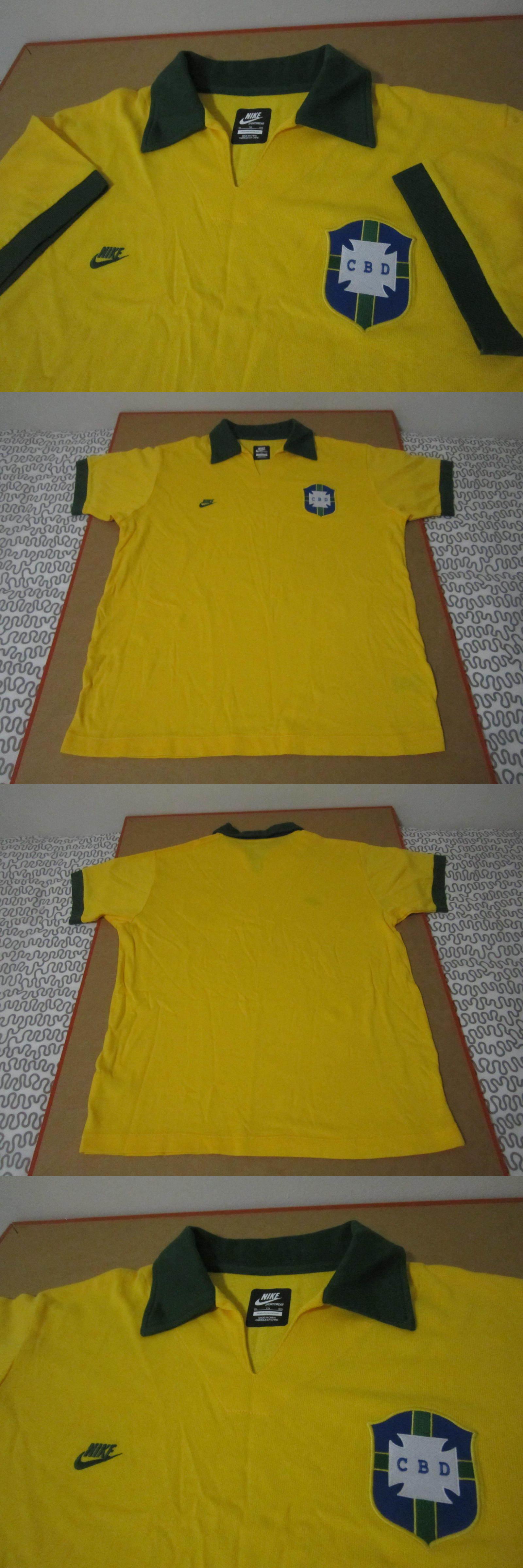 7594882f96e ... Soccer-National Teams 2891 Nike Cbd Brasil Brazil Soccer Jersey Futbol  Shirt Polo Collar ...