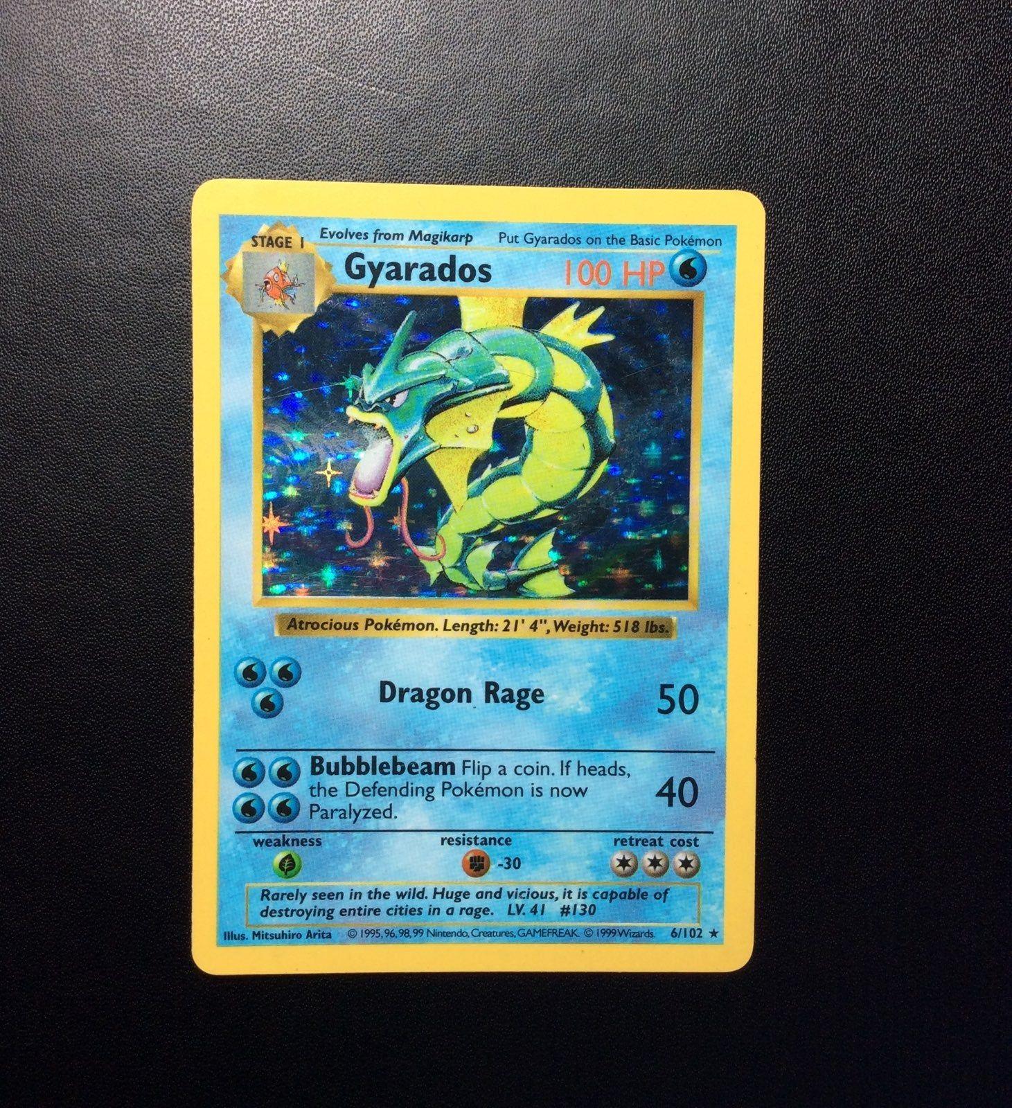 Gyarados holo shadowless 6102 pokemon gyarados