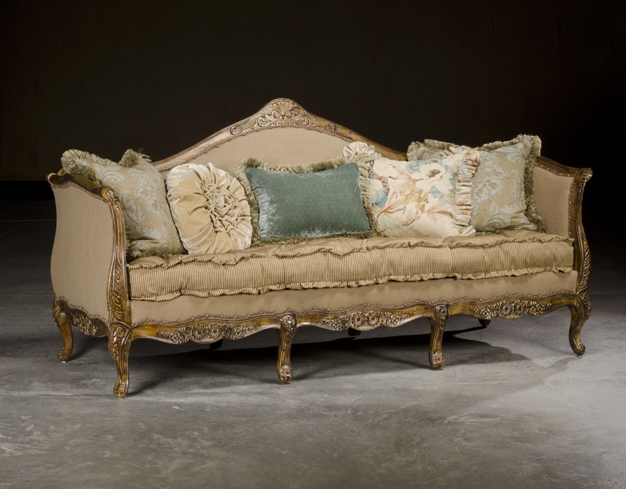 Rustic French Country Furniture Sofa High End Upholstered