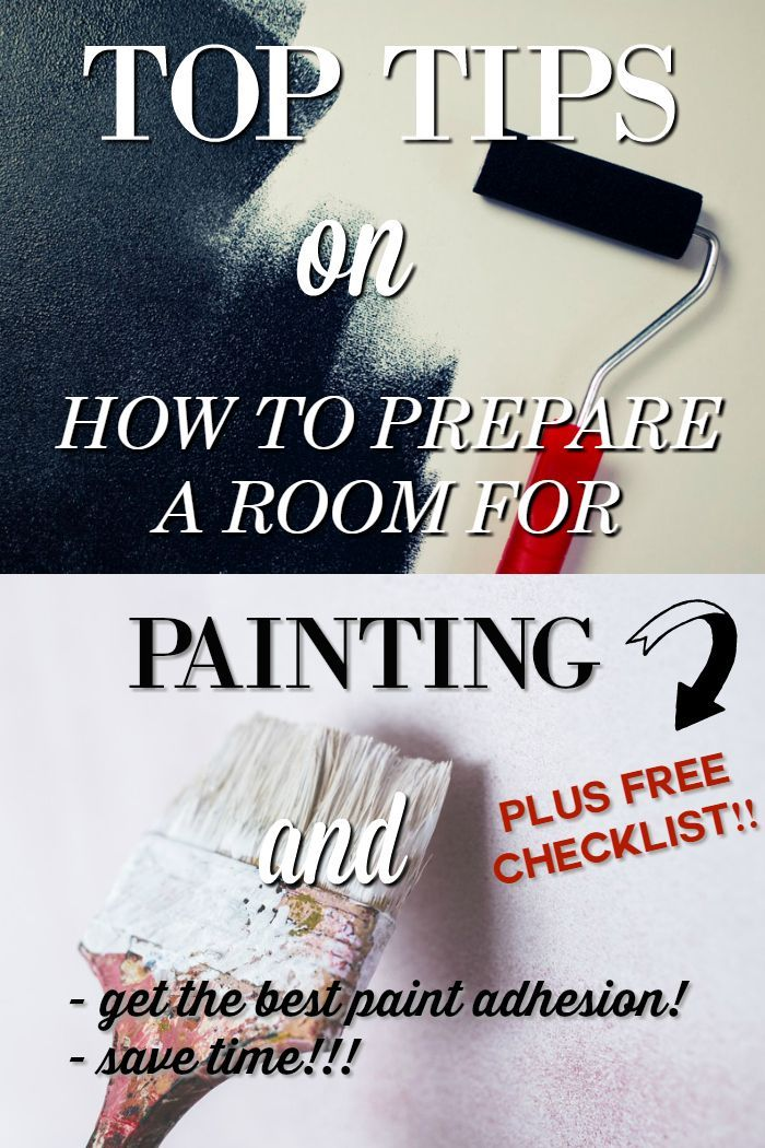 How To Prepare A Room For Painting Paint Prep Room Paint Painting