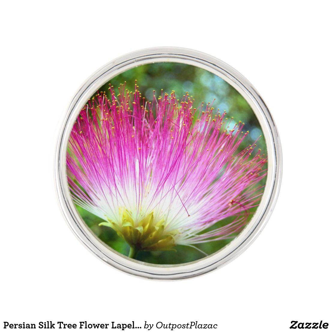 Persian Silk Tree Flower Lapel Pin Designer Lapel Pins Pinterest