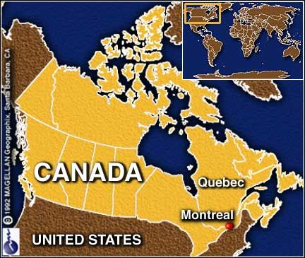 Map of Canada - Montreal | Places I have traveled to in Canada ... Quebec Montreal Map on