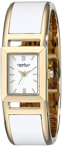Caravelle New York Womens 44L143 TwoTone Bangle Watch >>> For more information, visit image link.