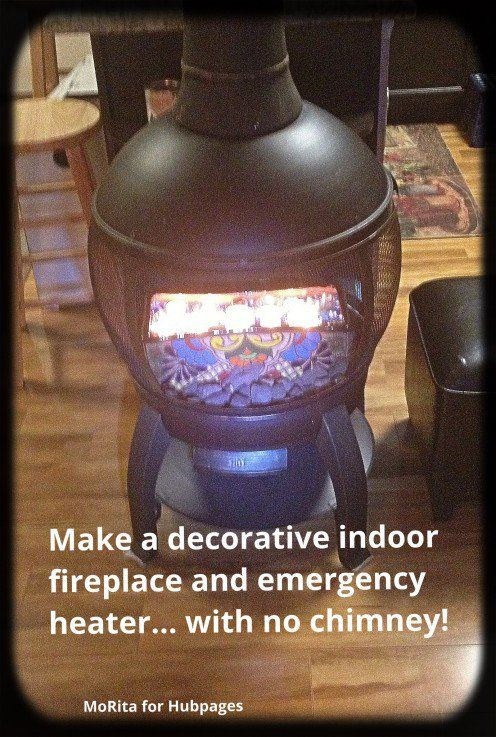 Make A Decorative Indoor Fireplace And Emergency Heater Without A Chimney Indoor Fireplace Diy Heater Candle Heater