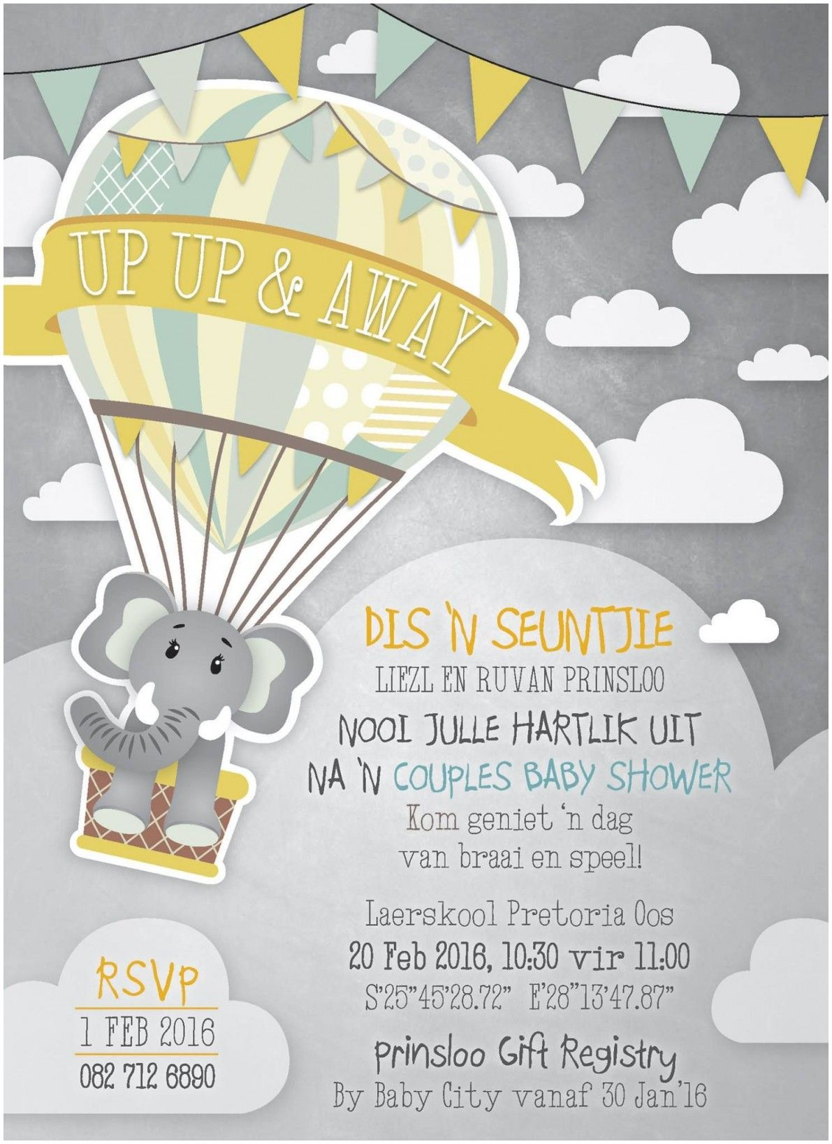 Collection Baby Shower Invitation Afrikaans Wording  Second baby