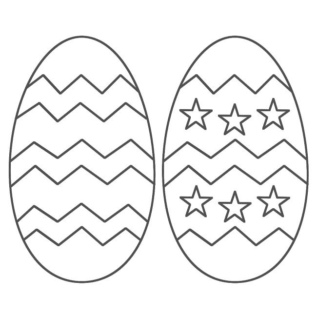 a easter egg coloring page | Egg | Pinterest