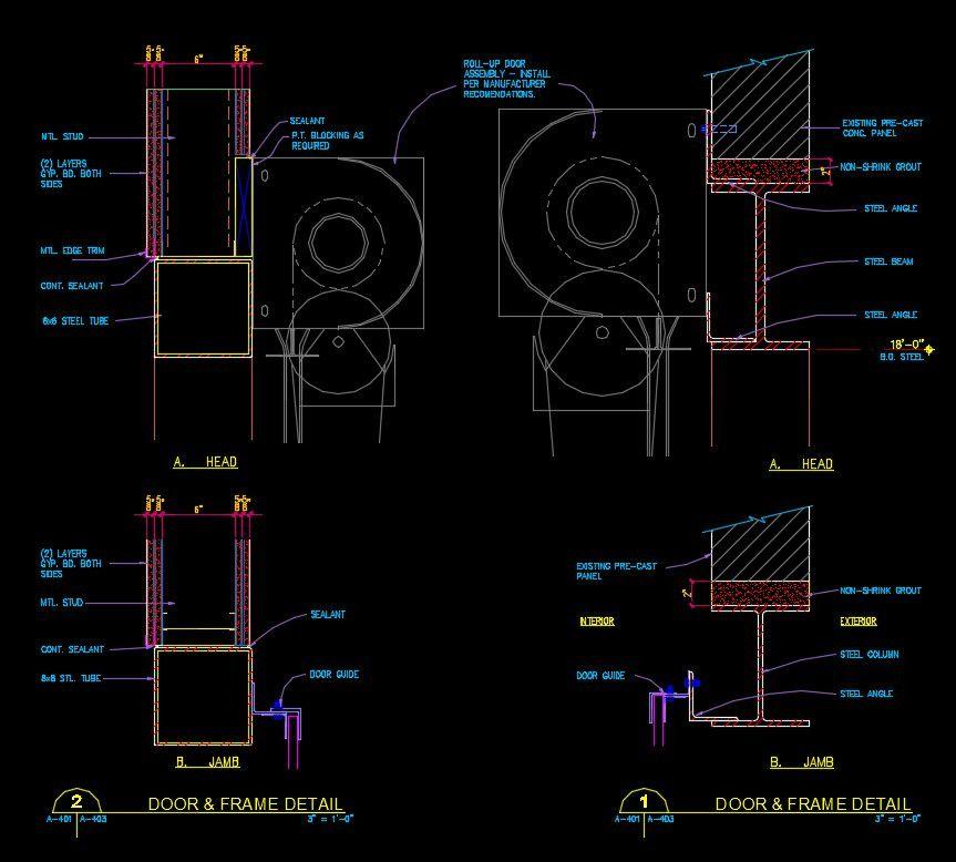 Free cad details door details cad design free cad for Window design autocad