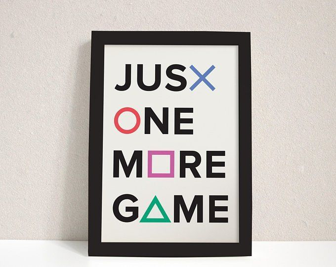 Framed Gaming Poster Playstation Quote Video Gaming Gamer Room Home Art Game Wall Decor Playstation Room Video Game Decor Game Room Wall Art