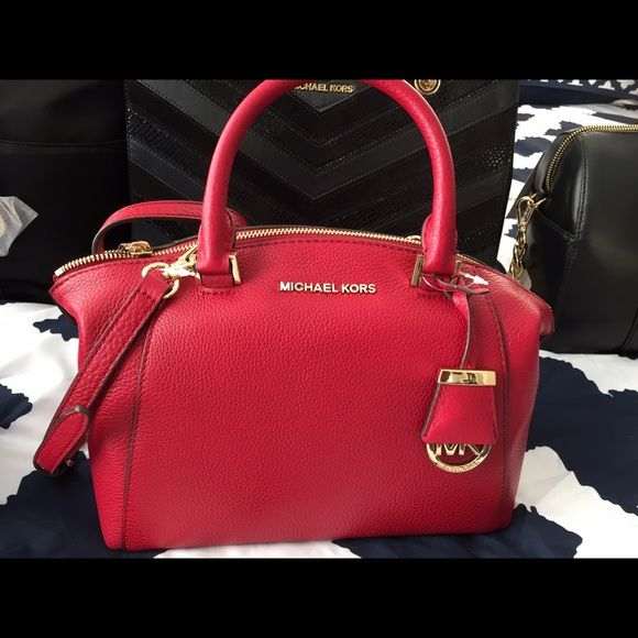 ad1ecfeac95f greece authentic mk riley small satchel leather nwt michael kors riley  small satchel leather comes with
