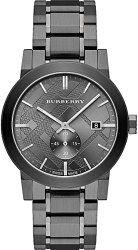 fffa843799fd Burberry Men s City BU9902 Grey Stainless-Steel Swiss Quartz Watch with  Grey Dial