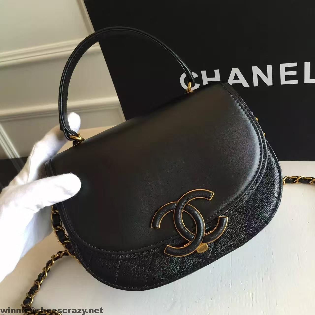 361ac5376963b9 Chanel Coco Curve Flap Messenger Bag A93460 Paris 2016 | Chanel ...