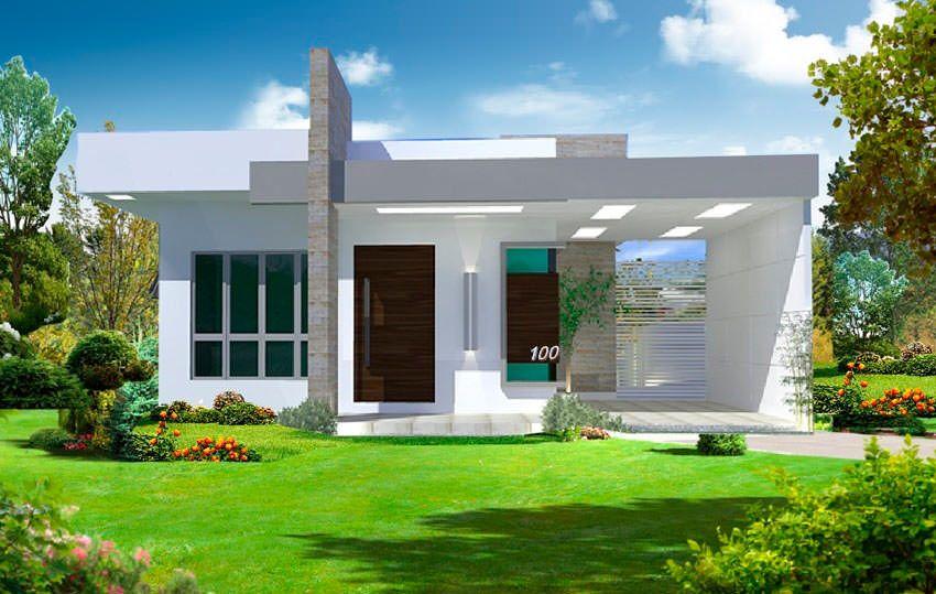Amado Fachadas de casas pequenas com platibanda | Casas prontas, Modelo  LZ62