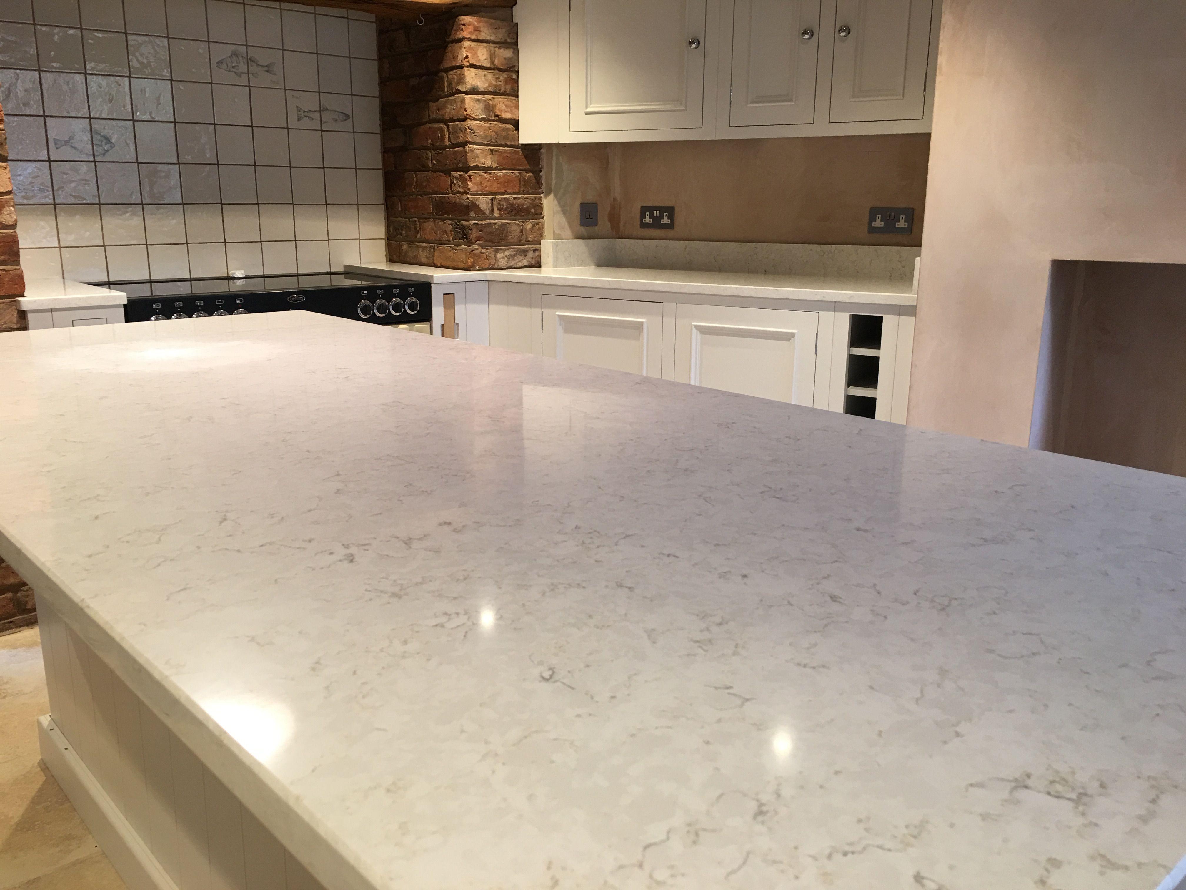 Silestone Lusso Worktops In Chester On A White Kitchen Silestone Countertops Lake House Kitchen White Shaker Kitchen