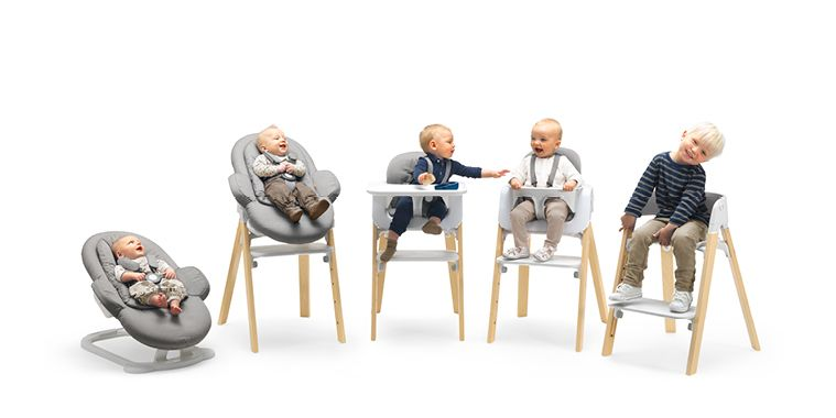 The Stokke Steps Is An All In One Seating System From Bouncer To High Chair Full Coming Soon Pish Posh Baby